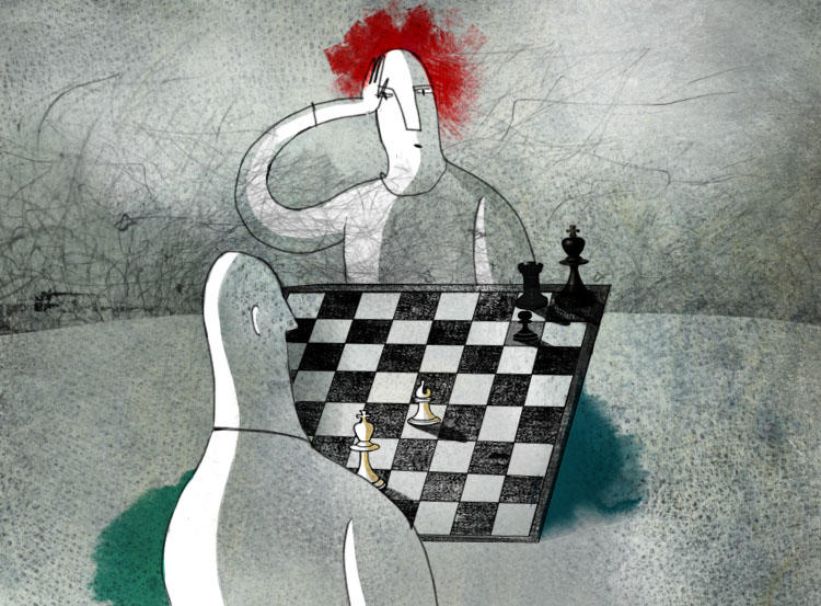 Chess game illustration