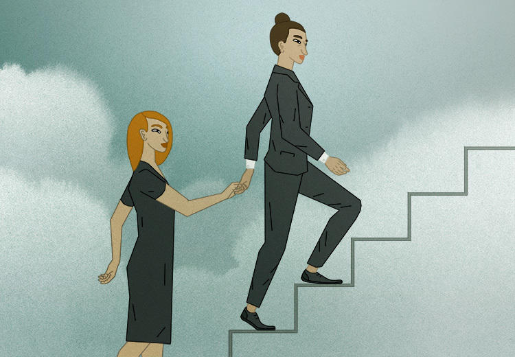 Women supporting other women into the c-suite